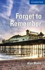 Forget to Remember Level 5 Upper-intermediate by Alan Maley (Paperback, 2011)