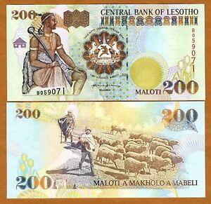 Lesotho-Kingdom-200-Maloti-2001-P-20-20b-UNC
