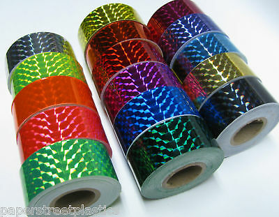 15 Different Color Prism Tapes, 1 inch x 25 ft, Holographic,  Quater Inch Mosaic