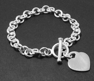 Solid-Heart-Tag-Bracelet-with-Toogle-Clasp-Sterling-Silver-9mm-31-40gr