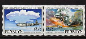 PENRHYN-IS-1995-WWII-SET-SG-513-514-MNH