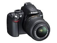 Nikon D Series D3000 10.2 MP Digital SLR Camera - Black (Kit w/ AF-S DX ...