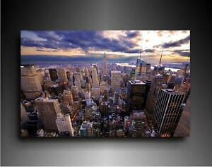 kunstdruck new york keilrahmenbild poster auf leinwand bild gem lde deko bilder ebay. Black Bedroom Furniture Sets. Home Design Ideas