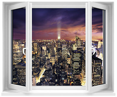 Sticker fenêtre trompe l'oeil New York réf 152