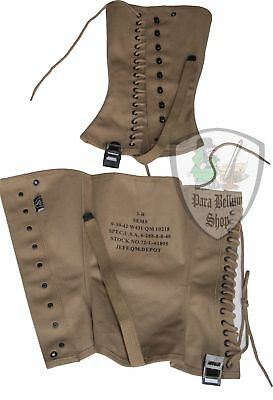 Ghette US M1938 scarponcini, Army gaiters service shoe, WW2 loow boots gamaschen