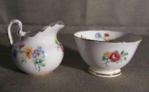 New-Chelsea-Staffs-England-Floral-Creamer-amp-Sugar-Bowl
