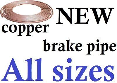 NEW 75cm soft Copper car van Brake pipe,easy flare.Diff Sizes availble
