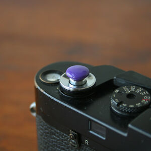 Purple Small Soft Release Button for Leica M3 M6 MP M8 M9 Fuji X100 Nikon Canon