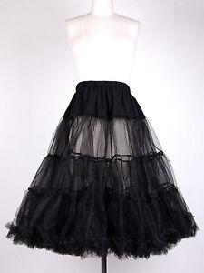 Black-Petticoat-double-layers-27-length-Size-S-M-L-For-your-1950s-Vintage-Dress