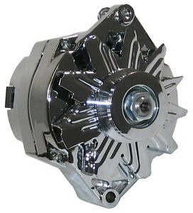 NEW-POWERMASTER-ALTERNATOR-CHROME-12SI-100AMP-BUICK-CADILLAC-OLDS-REGAL-DEVILLE
