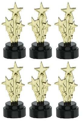 Pack of 6 Shooting Star Award Trophies - Hollywood Party - Trophy