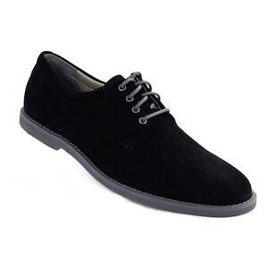 Calvin-Klein-Men-s-Dress-Shoes-Felix-F4022-Black-Suede-Oxford-Casual-Lace-up