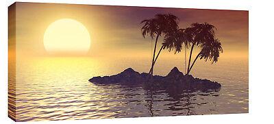 "LARGE BEAUTIFUL CANVAS ART PRINT SUNRISE BEACH 44""x 20"""
