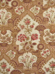 Antique-French-Cretonne-c1890-Art-Nouveau-design-fabric