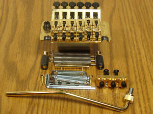 NEW-Schaller-Floyd-Rose-Locking-TREMOLO-Bridge-amp-Whammy-Bar-Gold-Guitar