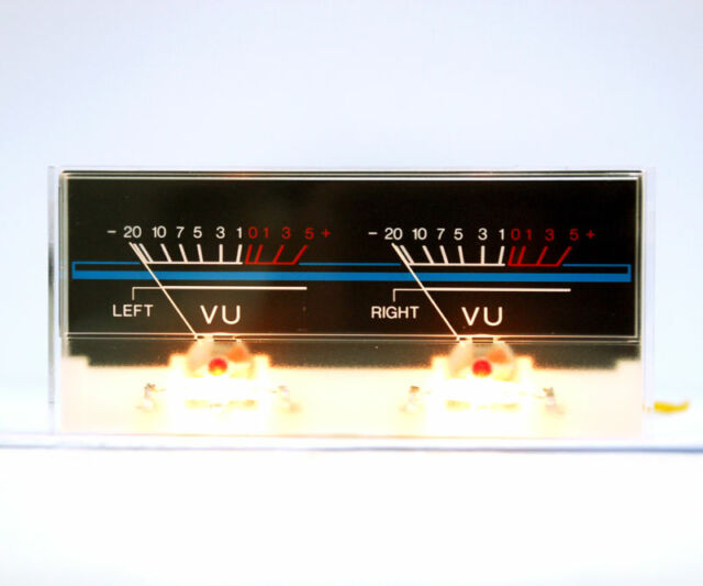 1pc Panel VU Meter P-59WC -8513 118x54mm with Dual 12V Bulb Lamp NISSEI
