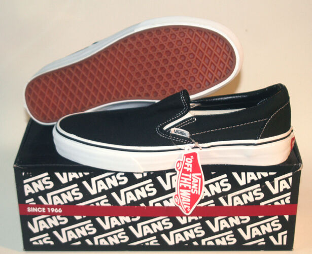 @ VANS Classic SLIP ON BLACK WHITE All Size 3.5 ~ 16
