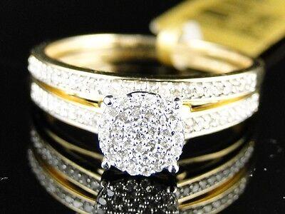 10K YELLOW GOLD LADIES WOMENS ROUND CUT DIAMOND WEDDING ENGAGEMENT BRIDAL RING