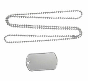 50-BLANK-STAINLESS-STEEL-DOG-TAGS-w-BALL-CHAIN-NECKLACE