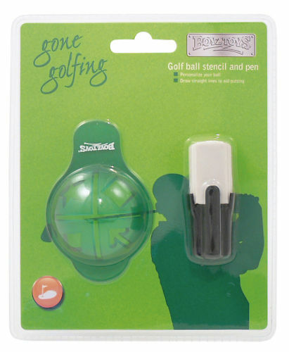 Boyztoys Golf Ball Stencil and Pen / Marker - Draw Straight Lines to Aid Putting