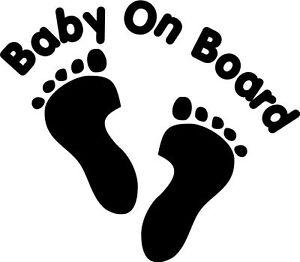 Baby On Board Footprint Car Decal Sticker Ebay