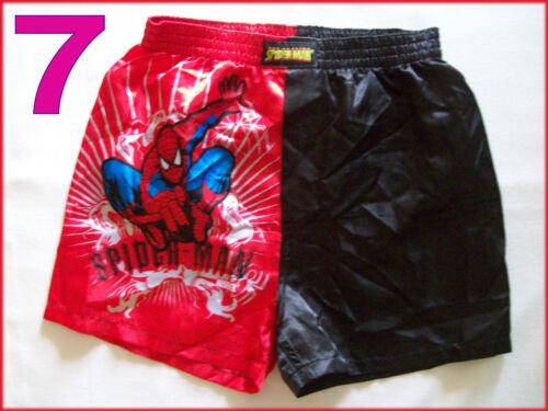 Sz 2 3 4 6 8 10 Boys Satin BOXER SHORTS NEW Awesome Spider-Man SPIDERMAN