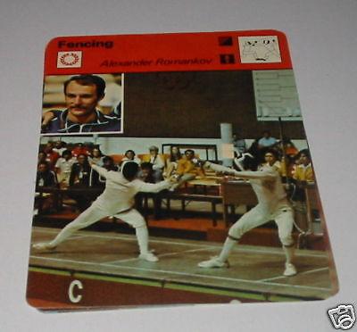 Fencing Alexander Romankov - SC Collector card