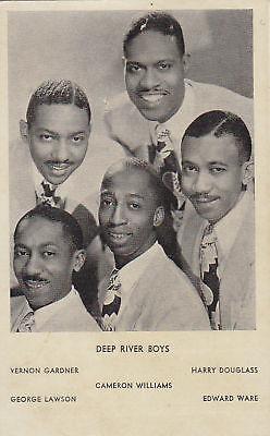 US VIRGINIA HAMPTON INSTITUTE BLACK GOSPEL QUINTET DEEP RIVER BOYS CIRCA 1950