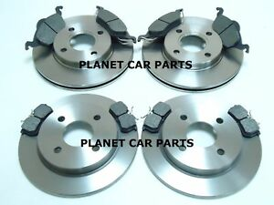 FORD-FOCUS-FRONT-amp-REAR-BRAKE-DISCS-AND-PADS-SET-NEW-MK1-1998-2004
