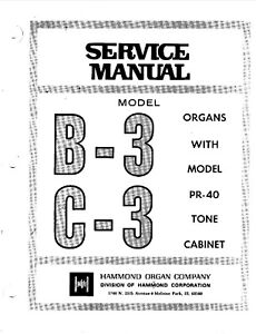 Details about HAMMOND B3 B-3 ORGAN KEYBOARD REPAIR / SERVICE MANUAL on