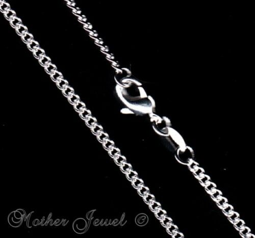 3MM CURB THICK CHAIN STERLING SILVER FILLED LADIES MENS LADIES BOYS NECKLACE