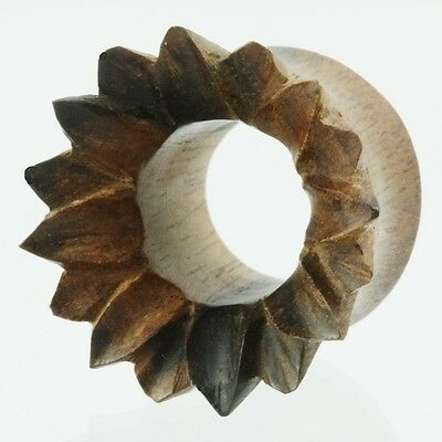 tunnel 318  wood wooden plugs spirals organic (single earring) piercings gauges
