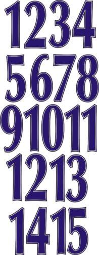 Vinilo 9 de pulgada hierro en números Paquete de 1-15 elección de 15 Colores Diferentes