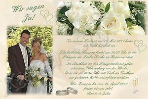 Das Bild Wird Geladen 40 Foto Einladung Danksagung Hochzeit Karte  Einladungskarten Verlobung