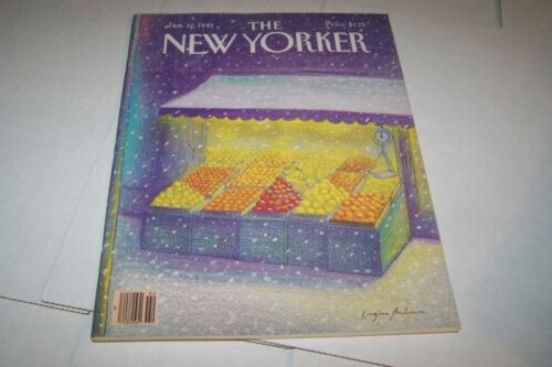 1121981 NEW YORKER magazine FRUIT STAND