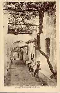 Algerie-cpa-TLEMCEN-Passage-Sidi-Ahmed-Bel-Hassen