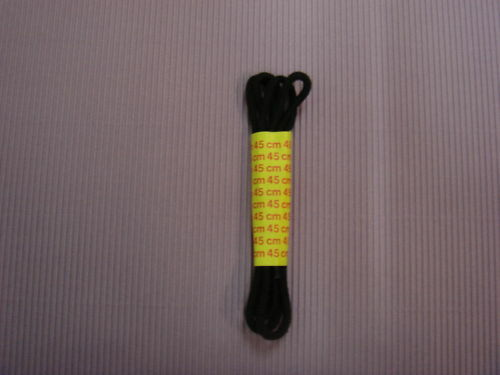 flach-verschiedene Längen Schnürsenkel-SCHWARZ-rund o