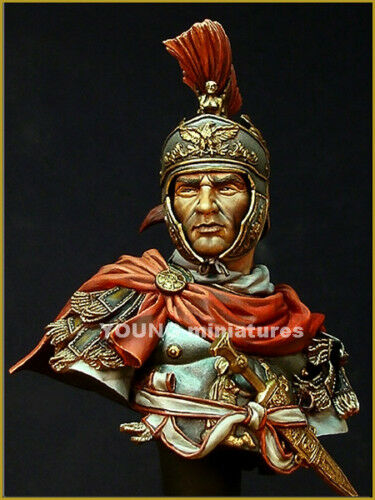 Young Miniatures Roman Cavalry Officer YH1829 1 10th Bust Unpainted kit