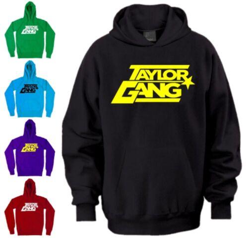Wiz Khalifa Taylor Gang Hoodie Star Hip Hop Weed Smoke Hooded Sweatshirt NEON