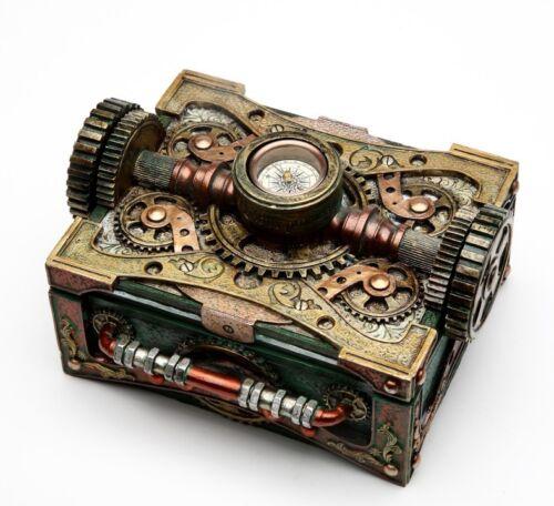 Steampunk Colonel Fizziwigs Jewelry and Compass Box