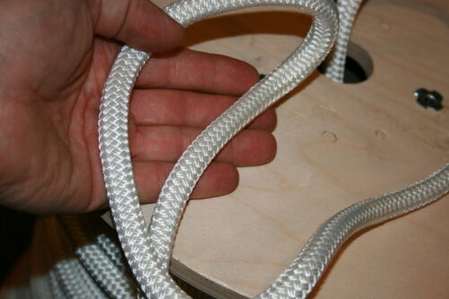 """100 feet NEW 7//16/"""" Double Braid Rope 6300Lbs BREAKING STRENGTH NEW 2018 Stock"""