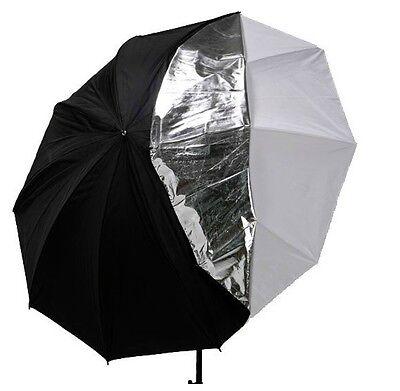 "Photography Studio 33"" double layers reflective and translucent white umbrella"