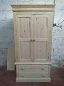 Image Is Loading PINE FURNITURE DIRECT VICTORIAN GENTS 2 DRAWER WARDROBE