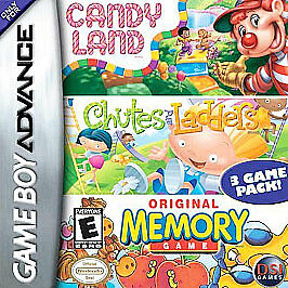 Candy Land / Chutes and Ladders /Memory Gameboy Game Boy Advance GBA MINT
