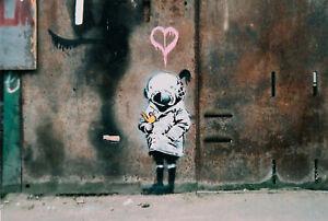 BANKSY-Helmet-Girl-GRAFFITI-CANVAS-PRINT-POP-ART
