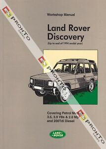 FACTORY WORKSHOP REPAIR MANUAL BOOK LAND ROVER DISCOVERY V8 200TDI 90-94