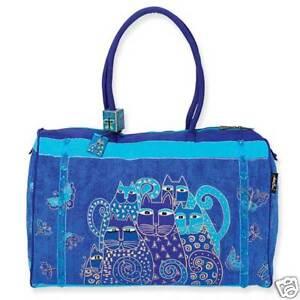 Laurel Burch Indigo Cat Travel Bag