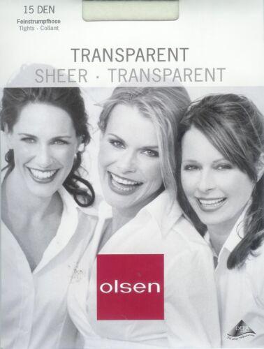 transparent 15den HAUCHFEIN+SEIDENMATT  Strumpfhose div.Fbn.+Gr *olsen*
