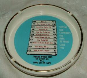 1963-Eastland-Woolen-Corp-NYC-Advertising-Ashtray-L-K