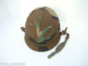 Original-US-Military-Vietnam-Era-Steel-Helmet-w-Cover-amp-Liner